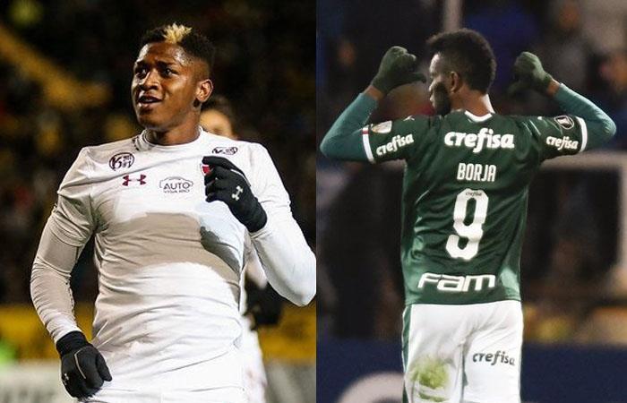 Yony González y Miguel Borja salvaron a Fluminense y Palmeiras. Foto: Twitter