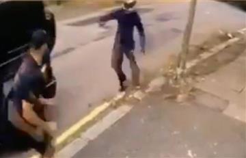 [VIDEO] ¡Increíble! A los golpes jugadores de Arsenal se defienden de un robo en Londres