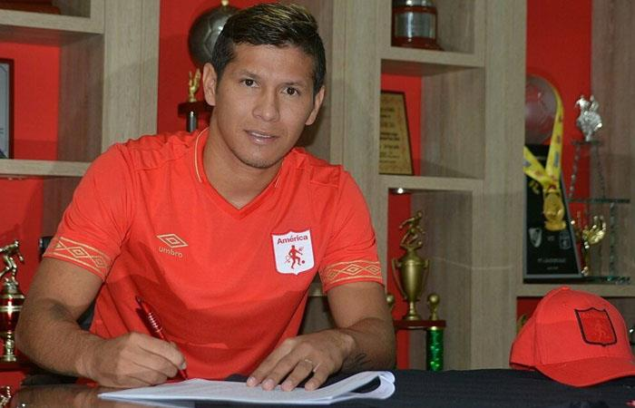 Carrascal renunció a Deportes Tolima y se unió a América de Cali. Foto: Twitter