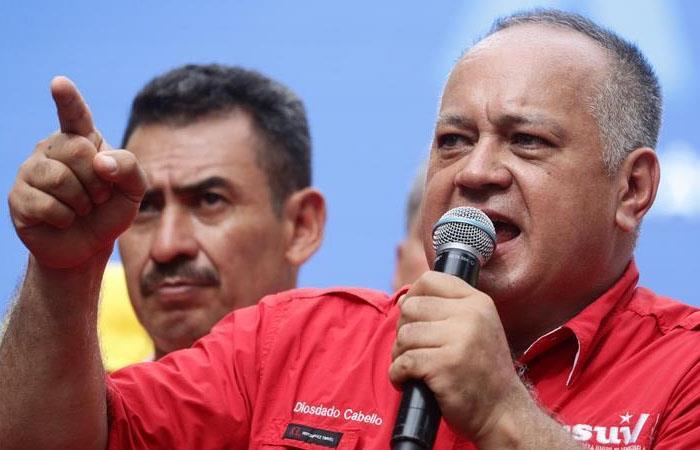 """Diosdado Cabello, durante la """"marcha por la paz y la unidad de los pueblos"""" en Venezuela. Foto: EFE"""