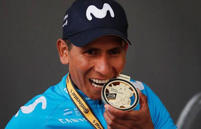 Nairo Quintana, ciclista del Movistar Team. Foto: EFE