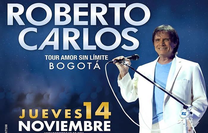 Roberto Carlos confirma concierto en Bogotá