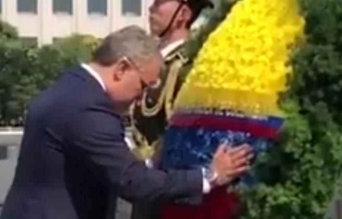 Iván Duque hizo un homenaje al comunismo en China