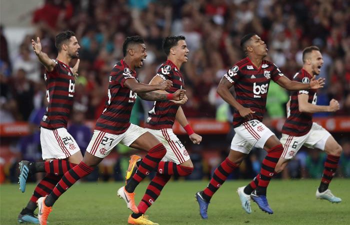 Flamengo avanzó por penales a los cuartos de final de la Copa Libertadores. Foto: EFE