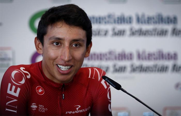 Egan Bernal disputó la clásica de San Sebastián luego de ganar el Tour de Francia. Foto: EFE