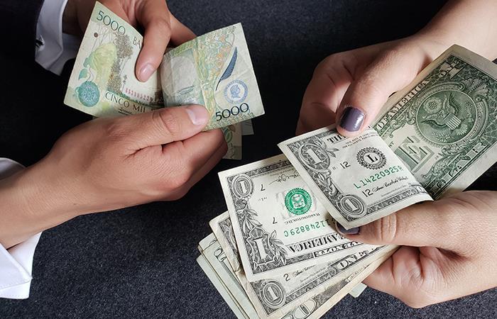 El dólar sorprende con su fuerte alza en la bolsa de Valores de Colombia
