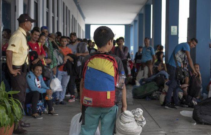 Niño refugiado en Colombia. Foto: Twitter