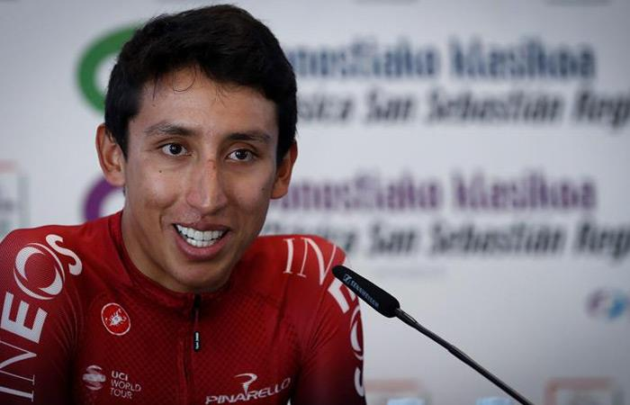 Egan Bernal, ciclista del Team INEOS. Foto: EFE