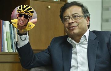 """Oportunista"": Critican a Petro por ""alabarse a sí mismo"" con triunfo de Egan Bernal"