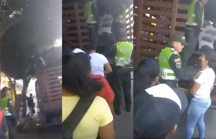Abuso de poder de la Policía Nacional. Foto: Twitter