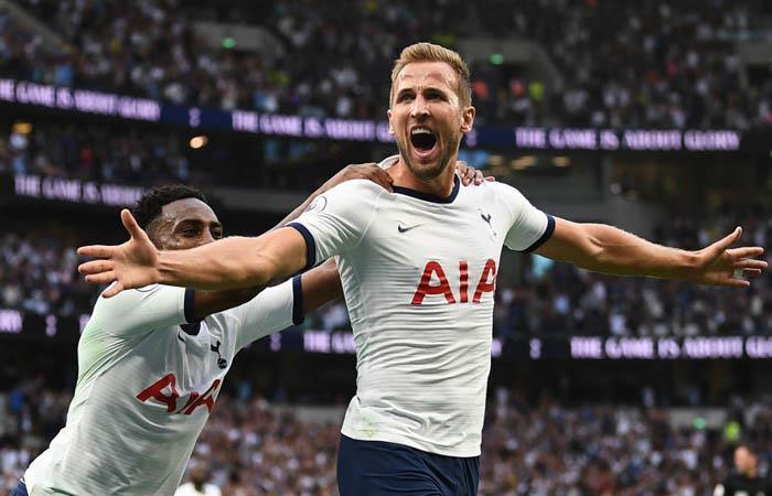 Harry Kane convirtió dos goles en la victoria ante Aston Villa. Foto: Twitter