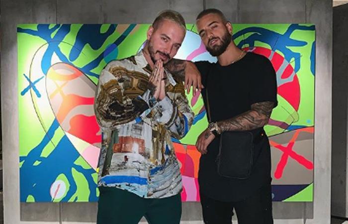 J Balvin y Maluma, cantantes colombianos. Foto: Instagram