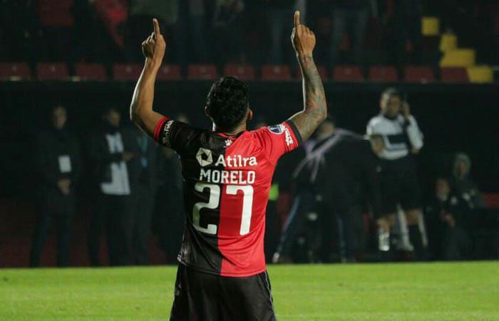 Wilson Morelo marcó el 1-0 ante Zulia. Foto: Twitter @ColonOficial