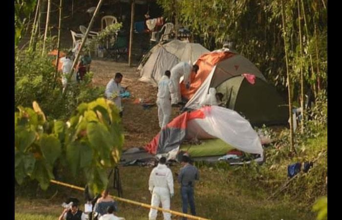 Escena del crimen, ubicada entre el municipio de Neira y la ciudad de Manizales. Foto: Twitter