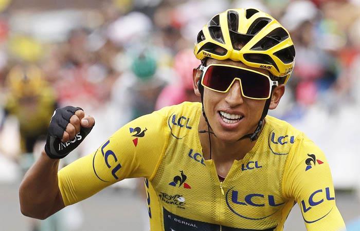 Egan Bernal hizo historia en el ciclismo colombiano. Foto: EFE