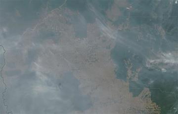 Satélites de Google captan cómo se ve el incendio en el Amazonas