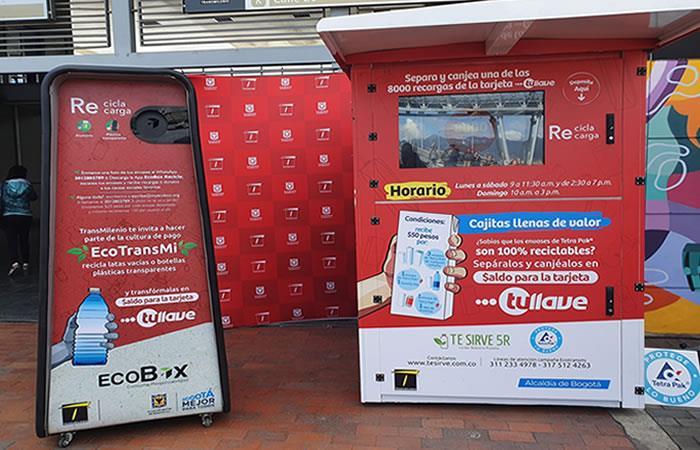 'Eco-TransMi', una nueva opción para pagar el pasaje. Foto: Twitter/@TransMilenio