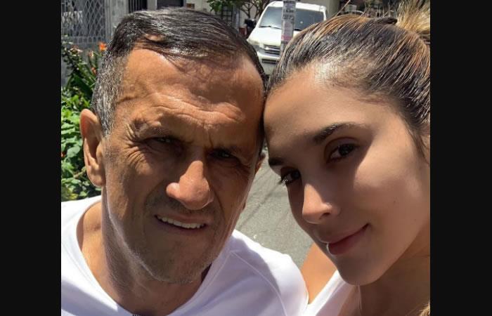 Daniela Ospina junto a su padre Hernán Ospina. Foto: Instagram/daniela_ospina5