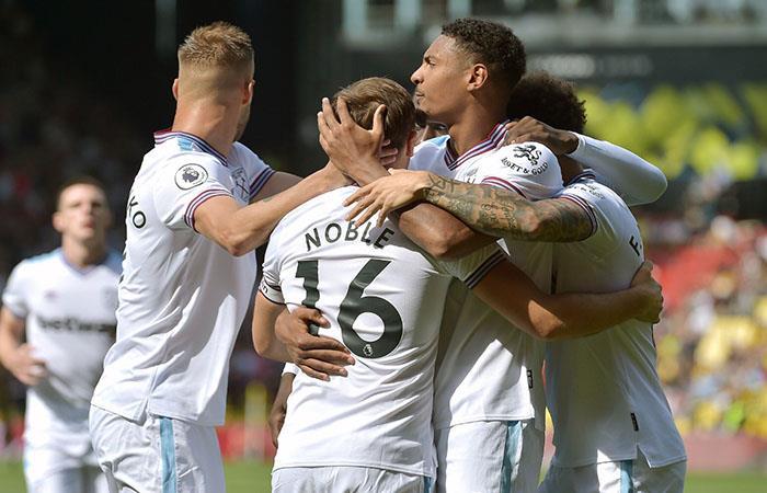 West Ham sumó su primera victoria en la Premier League. Foto: Twitter @WestHam
