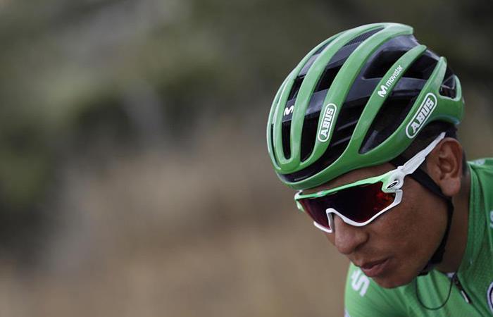 Nairo Quintana en la tercera etapa de la Vuelta a España. Foto: EFE