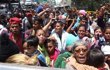 """¡Queremos pasar"": Venezolanos exigieron apertura de la frontera colombo-ecuatoriana"