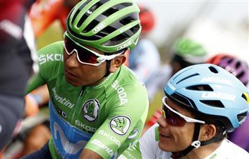 ¿Con quién fue? Un famoso futbolista colombiano recibió a Nairo en la 4ta etapa de la Vuelta a España