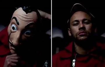 VIDEO: Neymar se une al equipo de 'La Casa de papel'