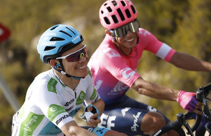 Miguel Ángel López y Sergio Higuita han brillado en La Vuelta. Foto: EFE