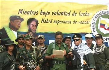 Este es el listado de los integrantes que aparecen en el vídeo con Iván Márquez