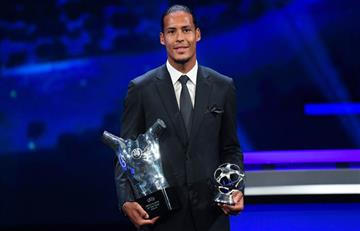 ¡Mejor que Messi y Cristiano! Van Dijk ganó el premio jugador de la UEFA