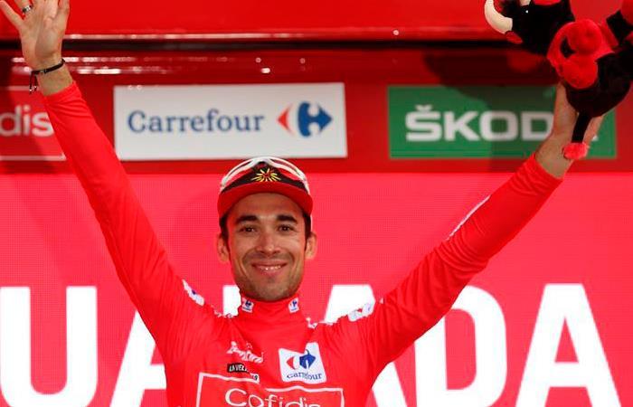 Nicolás Edet, nuevo líder de la Vuelta a España. Foto: EFE