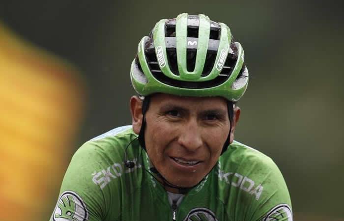 Nairo Quintana, nuevo líder de La Vuelta Epsaña. Foto: EFE