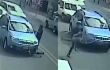 [VIDEO] ¡Qué intolerancia! Conductor arrolló a ciclista en Bogotá