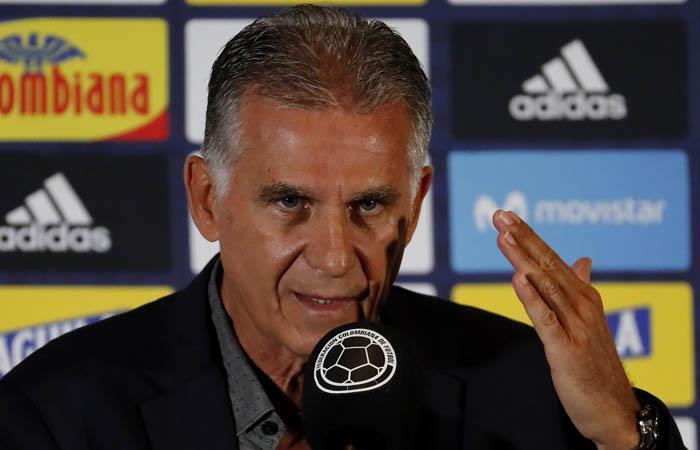 Carlos Queiroz no confirmó la nómina que enfrentará a Brasil. Foto: EFE