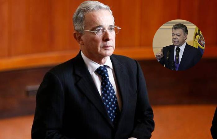 Álvaro Uribe, presidente de Colombia de 2002-2010, y Juan Manuel Santos, sucesor de 2010-2018. Foto: Twitter