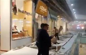 [Fotos y videos] ¡Pánico en Unicentro! El techo se desplomó en el centro comercial