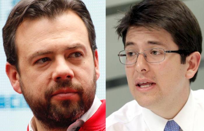 Carlos Fernando Galán y Miguel Uribe Turbay, candidatos para la Alcaldía de Bogotá. Foto: Twitter