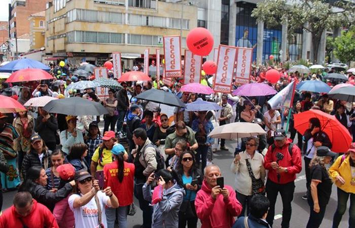 El Paro Nacional duraría 24 horas con movilizaciones en todo el país. Foto: Twitter