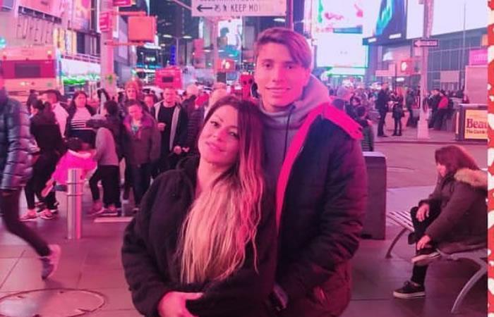 Marbelle junto a su novio Sebastián Salazar. Foto: Instagram/realmarbelle1