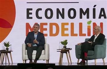 """Duque insta a """"rescatar el humanismo"""" para afianzar la economía naranja"""