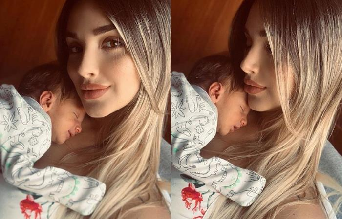 Melina Ramírez respondió a quienes criticaron foto de su hijo