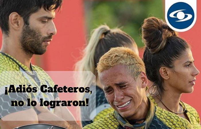 El equipo de los cafeteros quedó eliminado del 'Desafío'. Foto: Instagram