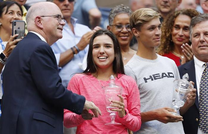 Maria Camila Osorio, campeona junior del US Open 2019. Foto: EFE