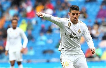 ¡A seguir así! James Rodríguez jugó todo el partido en la victoria de Real Madrid