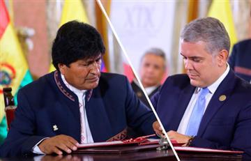 Evo Morales agradece a Iván Duque por ayudas para mitigar incendios en Bolivia