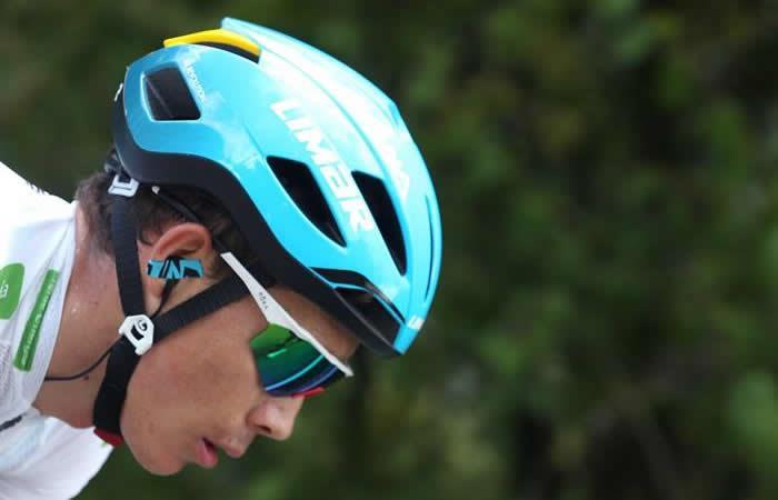 Miguel Ángel López, ciclista colombiano. Foto: EFE