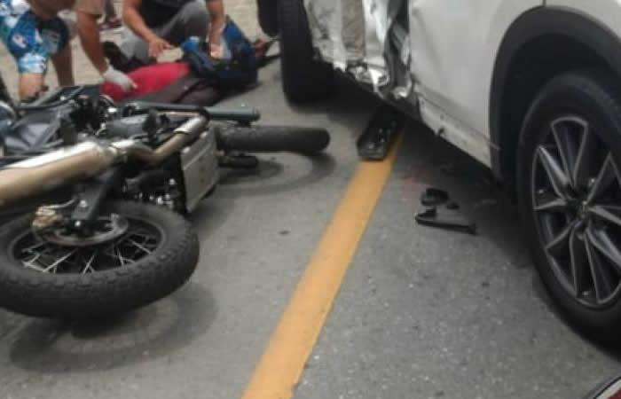 Jarlan Barrera se vio involucrado en accidente de tránsito - Foto: Twitter