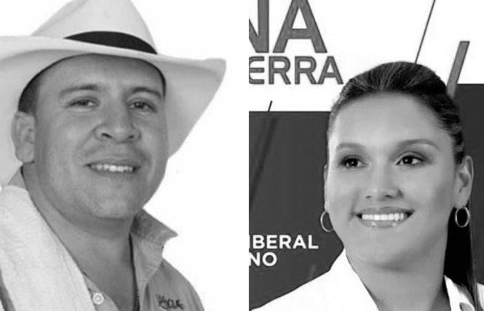 Orley García, excandidato a la Alcaldía de Toledo (Antioqui), y Karina García, excandidata a la Alcaldía de Suárez (Cauca). Foto: Twitter