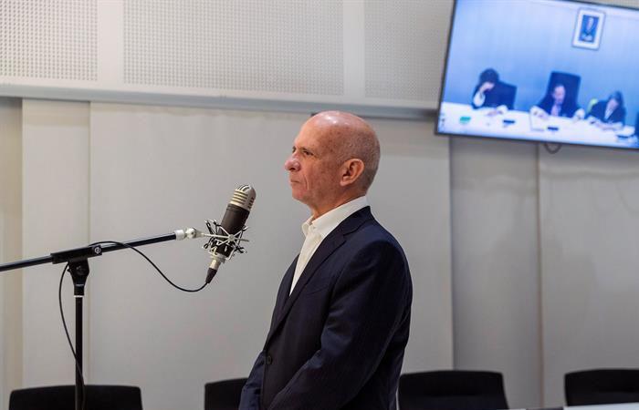Hugo Carvajal, en la Audiencia Nacional española. Foto: EFE