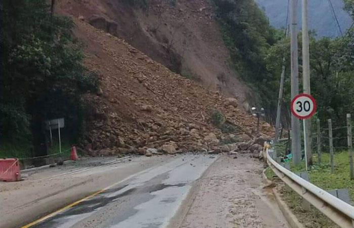 Este martes se abrirá la vía que conecta a Bogotá con Villavicencio. Foto: Twitter @Robertootrebor6